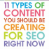 [infoGraphics] 11 Types of Content You Should Create Right Now