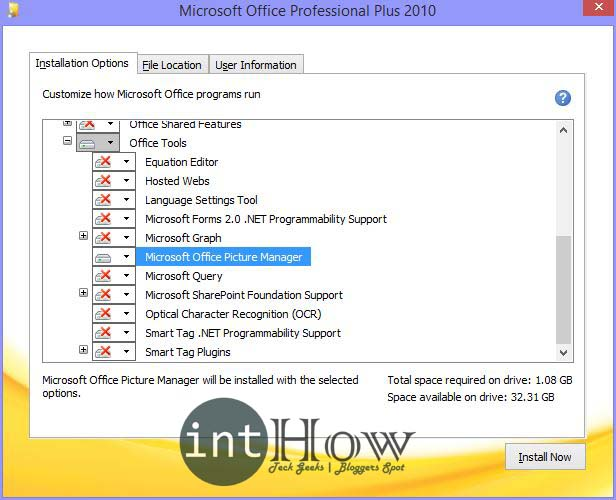 Install Microsoft Picture Manager in MS Office 2013 | intHow