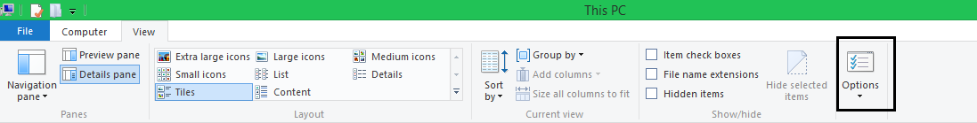 Ribbon Show Hidden Files and Folders