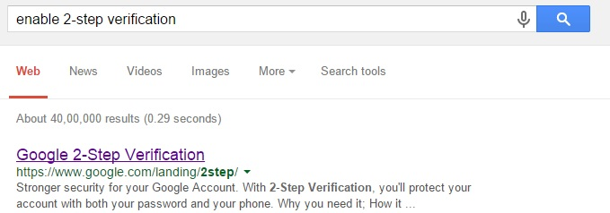 Search for 2-Step Verification Process